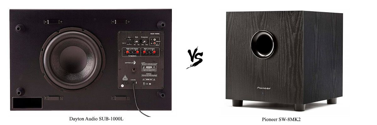 Dayton Audio SUB-1000L vs Pioneer SW-8MK2