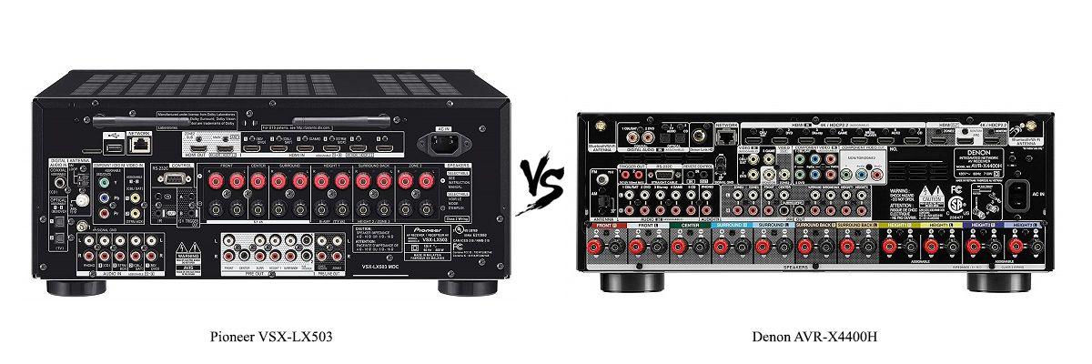 Denon AVR-X4400H vs Pioneer VSX-LX503