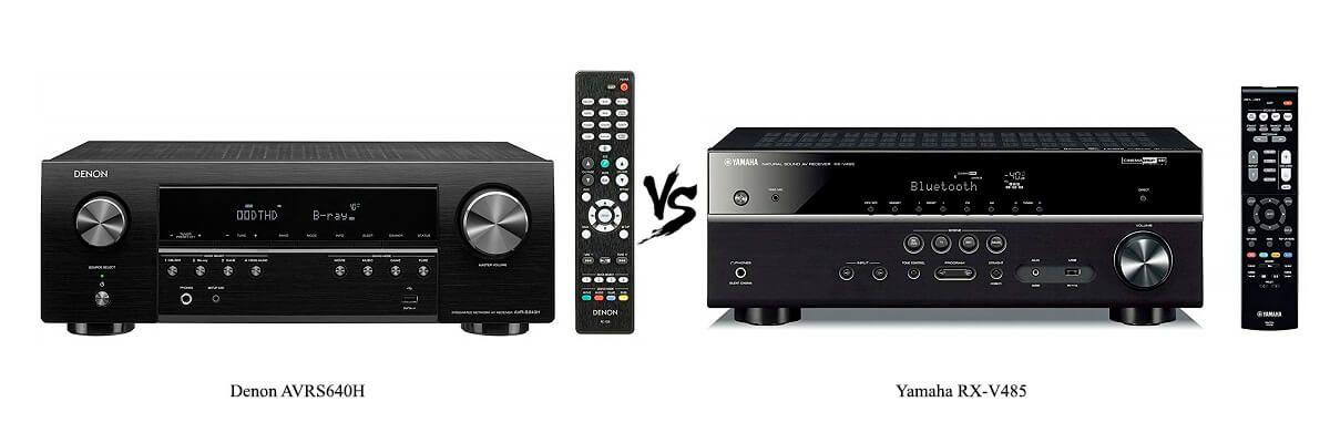 Denon AVRS640H vs Yamaha RX-V485