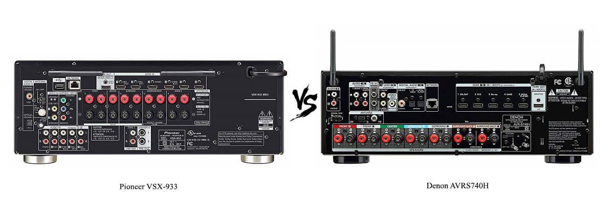Denon AVRS740H vs Pioneer VSX-933