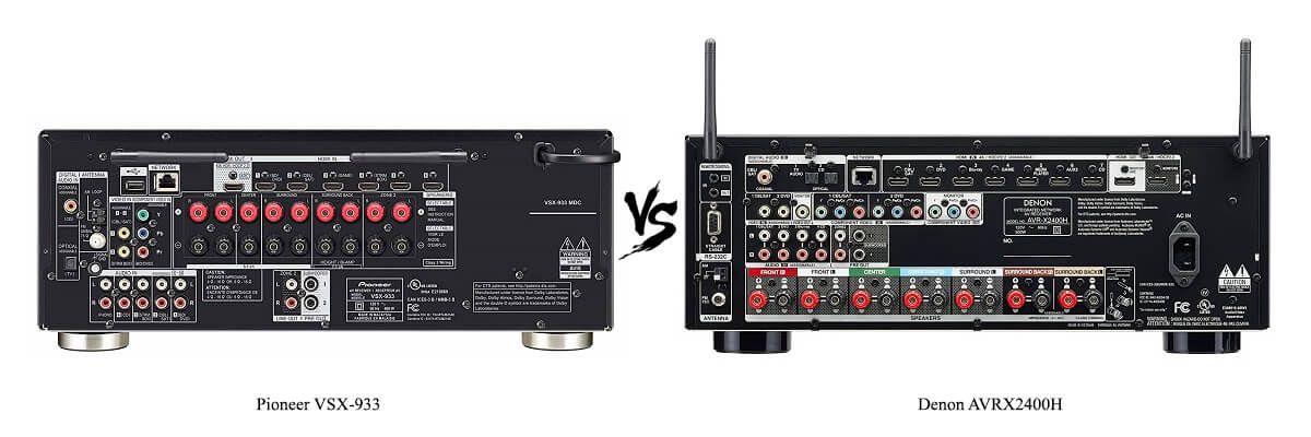 Denon AVRX2400H vs Pioneer VSX-933