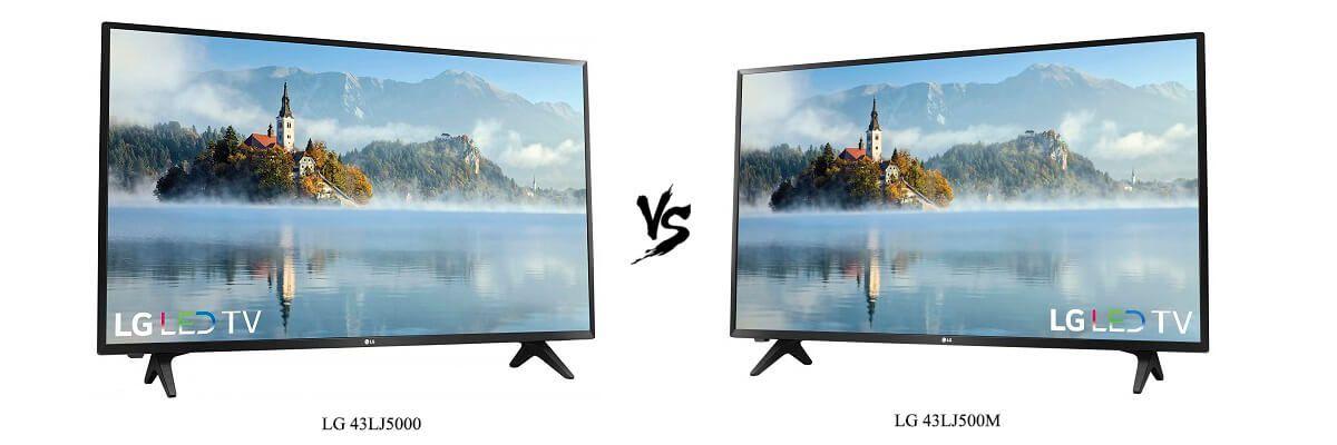 LG 43LJ5000 vs LG 43LJ500M