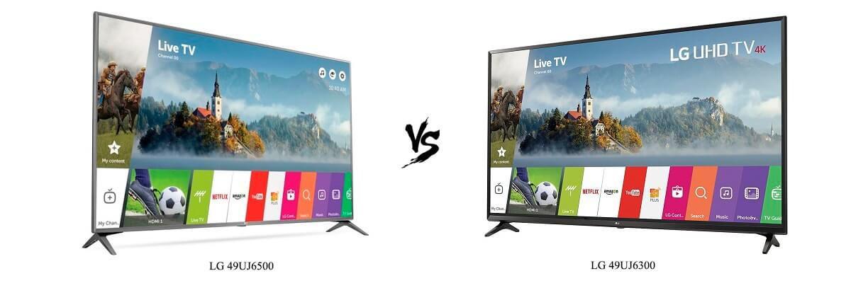 LG 49UJ6500 vs 49UJ6300