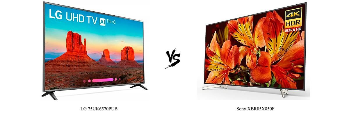 LG 75UK6570PUB vs Sony XBR85X850F