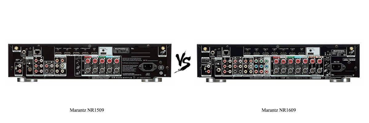 Marantz NR1609 vs NR1509