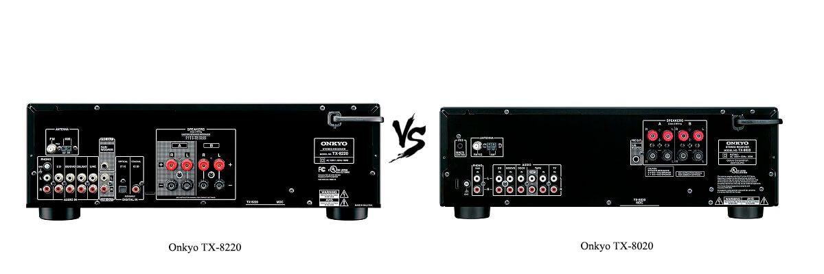 Onkyo TX-8020 vs Onkyo TX-8220