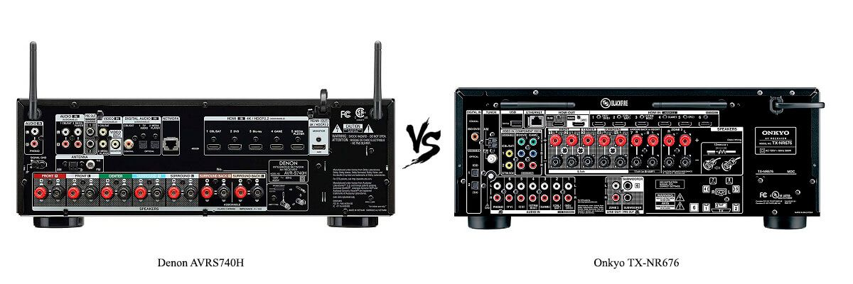 Onkyo TX-NR676 vs Denon AVRS740H