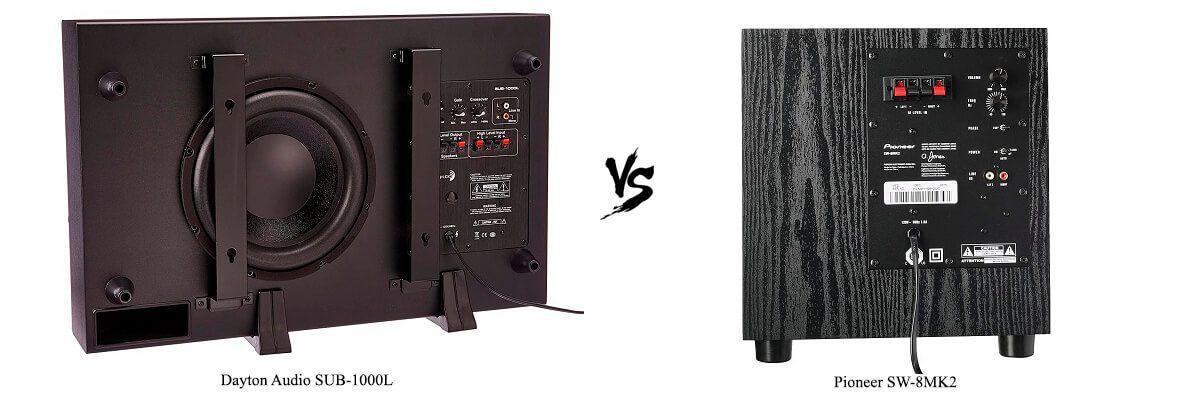 Pioneer SW-8MK2 vs Dayton Audio SUB-1000L