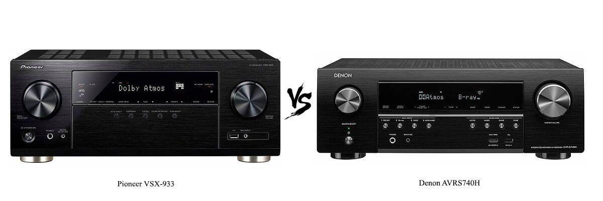 Pioneer VSX-933 vs Denon AVRS740H