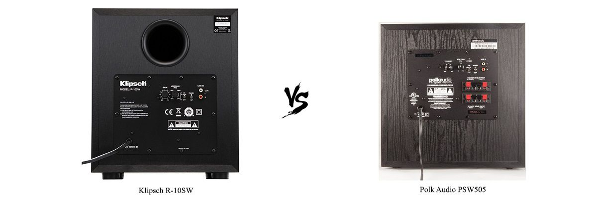 Polk Audio PSW505 vs Klipsch R-10SW