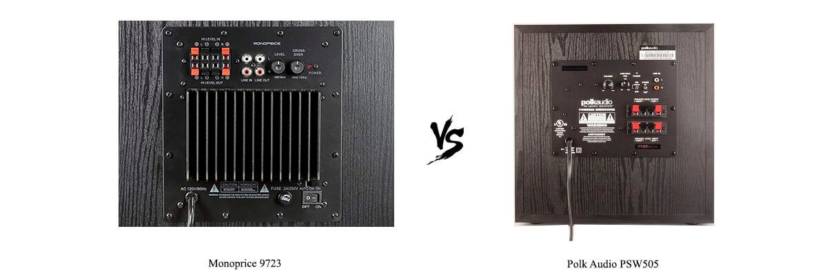 Monoprice 9723 vs Polk Audio PSW505 Review [2019] - HelpToChoose