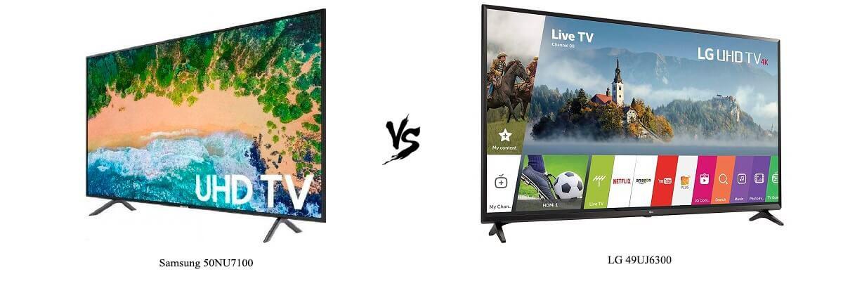 Samsung 50NU7100 vs LG 49UJ6300