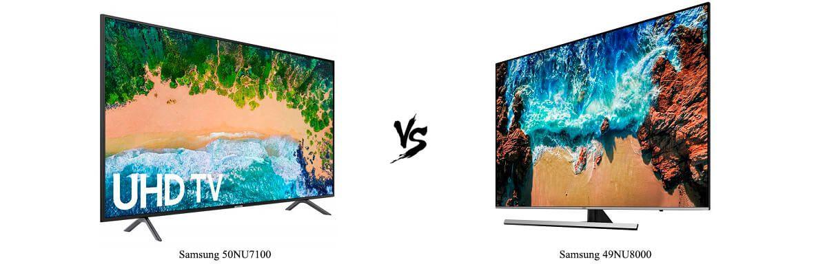 Samsung 50NU7100 vs Samsung 49NU8000