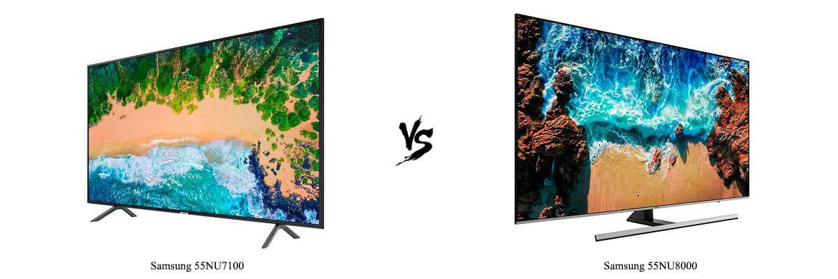 Samsung 55NU7100 vs 55NU8000