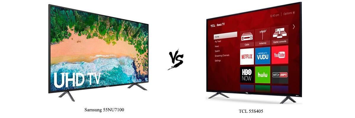 Samsung 55NU7100 vs TCL 55S405