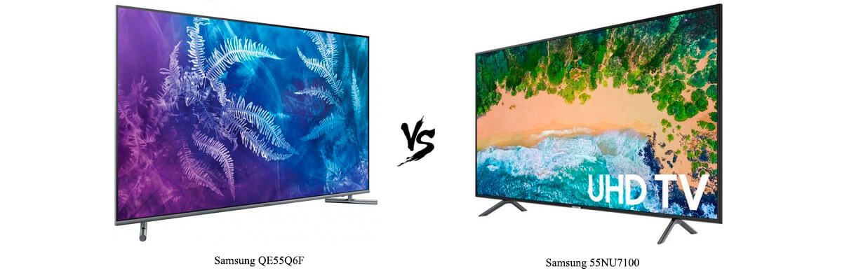 Samsung QN55Q6F vs Samsung 55NU7100