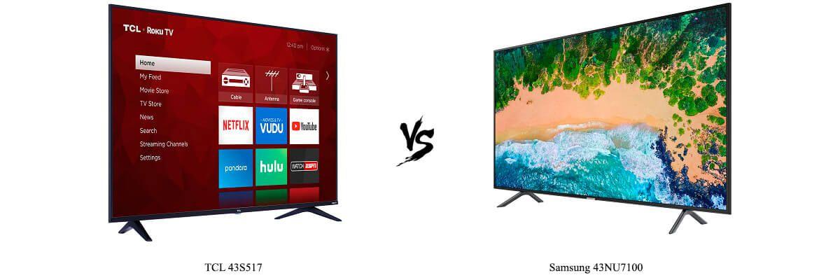 TCL 43S517 vs Samsung 43NU7100