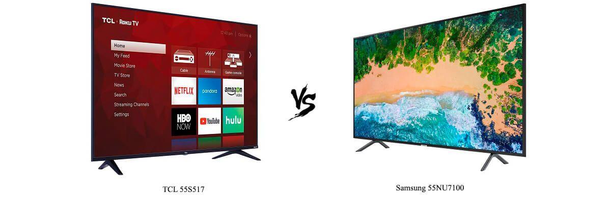 TCL 55S517 vs Samsung 55NU7100