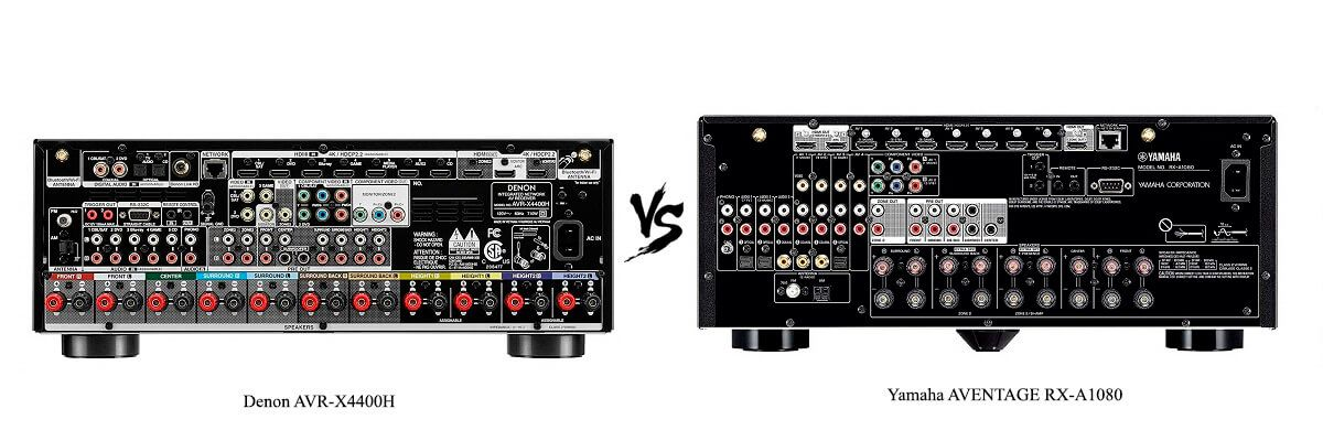 Yamaha AVENTAGE RX-A1080 vs Denon AVR-X4400H