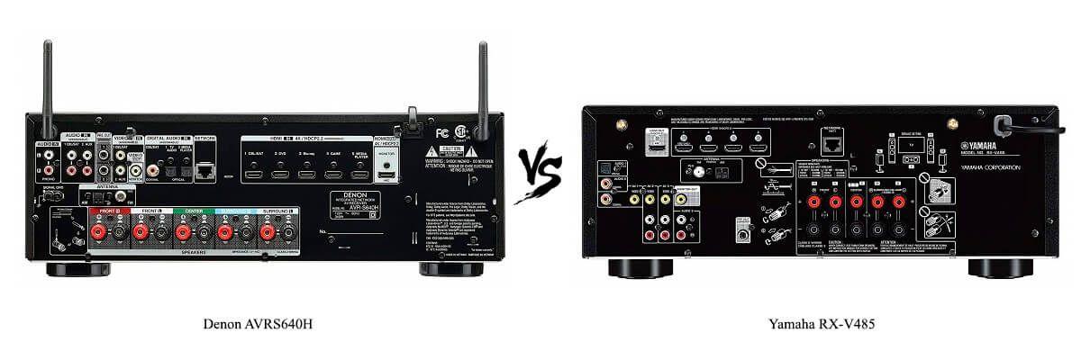 Yamaha RX-V485 vs Denon AVRS640H