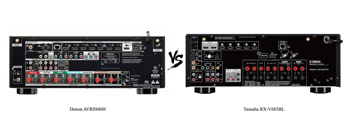 Yamaha RX-V685BL vs Denon AVRS940H