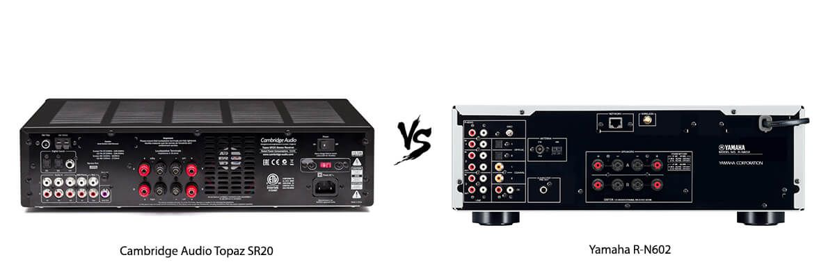 Cambridge Audio Topaz SR20 vs Yamaha R-N602 back