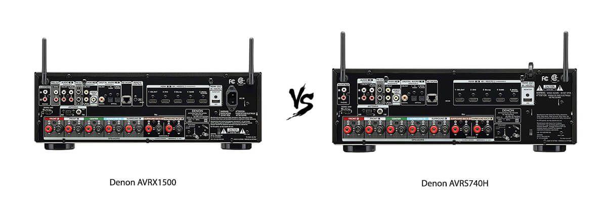 Denon AVRX1500 vs Denon AVRS740H back