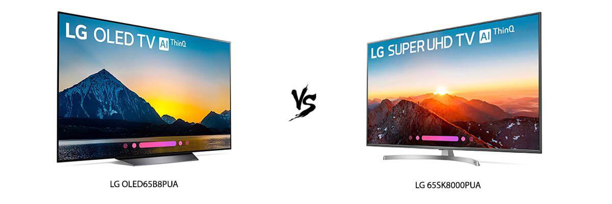 LG OLED65B8PUA vs LG 65SK8000PUA