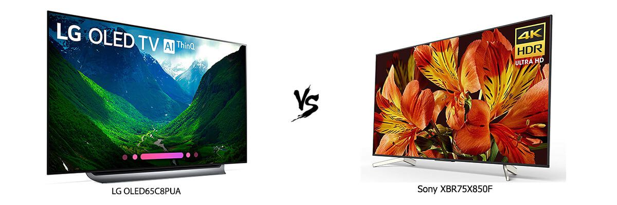 LG OLED65C8PUA vs Sony XBR75X850F
