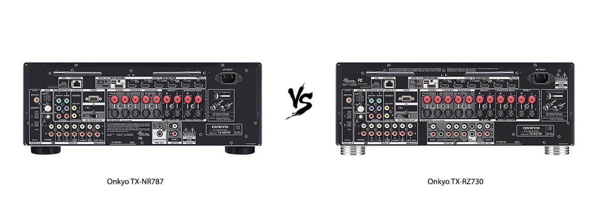 Onkyo TX-NR787 vs Onkyo TX-RZ730 back