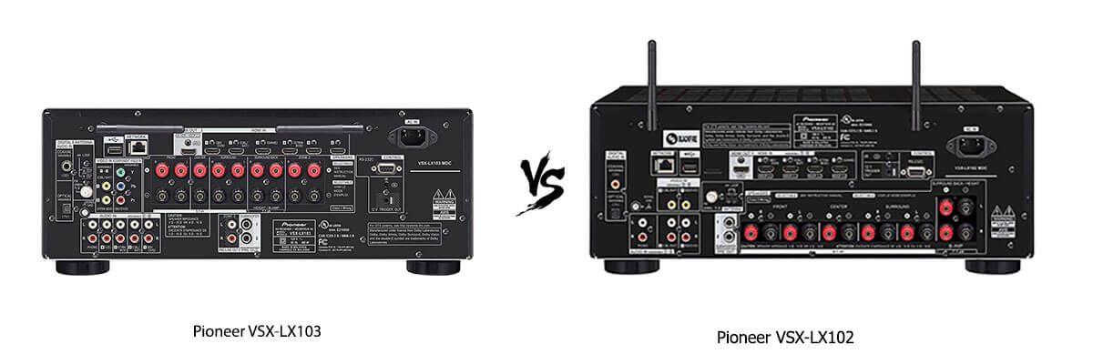 Pioneer VSX-LX103 vs Pioneer VSX-LX102 back