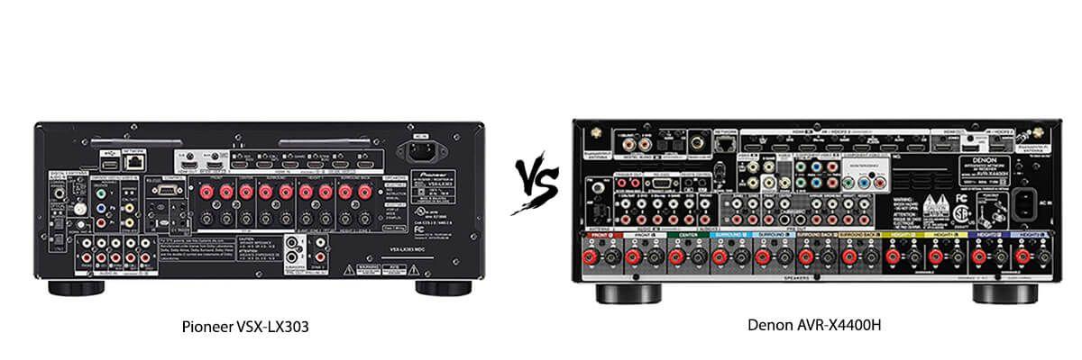 Pioneer VSX-LX303 vs Denon AVRX4400H back
