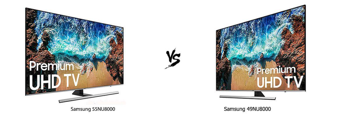 Samsung 55NU8000 vs Samsung 49NU8000