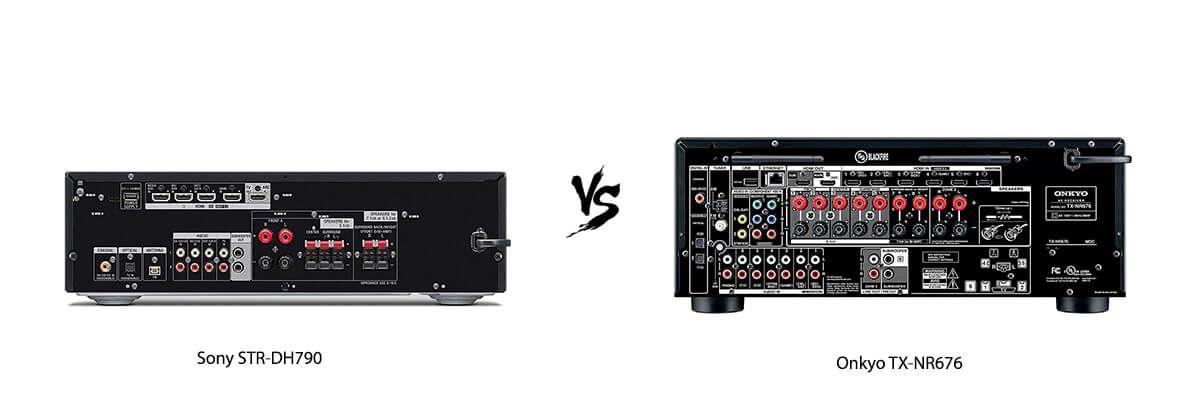 Sony STR-DH790 vs Onkyo TX-NR676 back