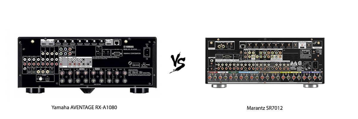 Yamaha AVENTAGE RX-A1080 vs Marantz SR7012 back