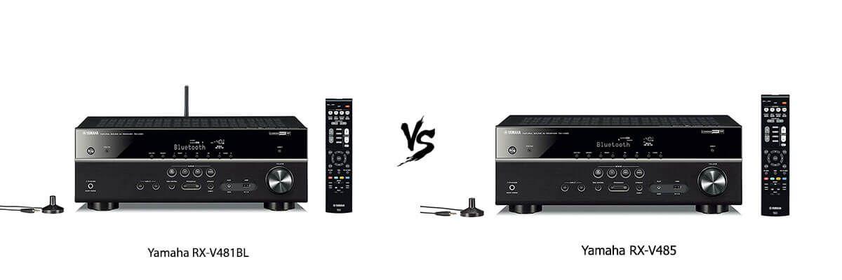 Yamaha RX-V481BL vs Yamaha RX-V485