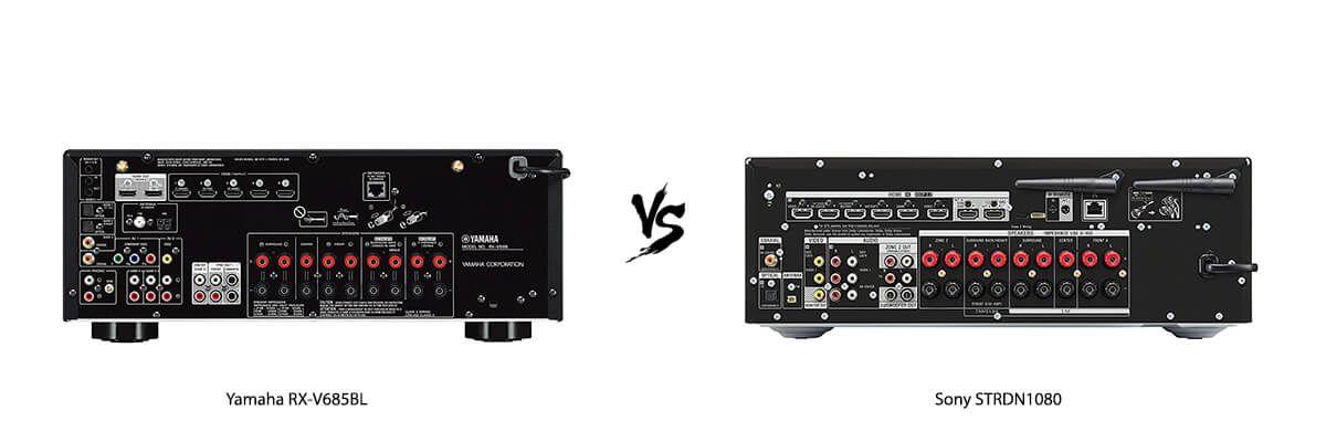 Yamaha RX-V685BL vs Sony STRDN1080 back