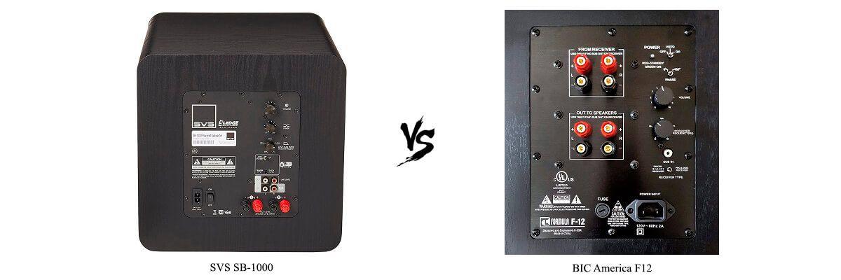 BIC America F12 vs SVS SB-1000