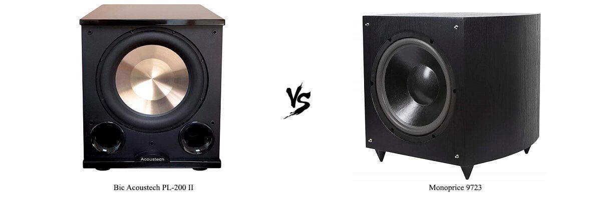 Bic Acoustech PL-200 II vs Monoprice 9723