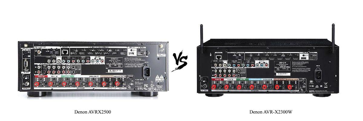 Denon AVR-X2300W vs AVRX2500