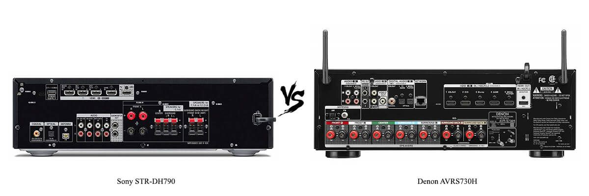 Denon AVRS730H vs Sony STR-DH790