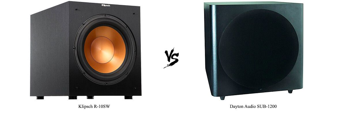 Klipsch R-10SW vs Dayton Audio SUB-1200