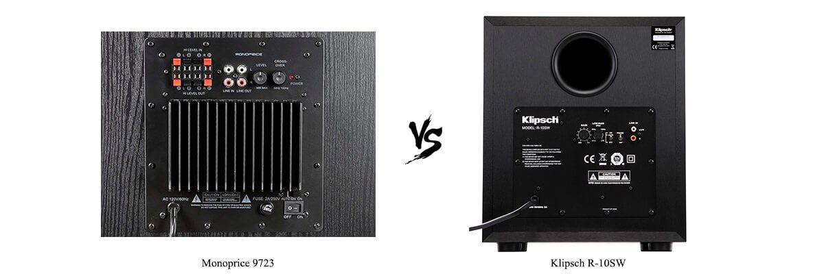 Klipsch R-10SW vs Monoprice 9723