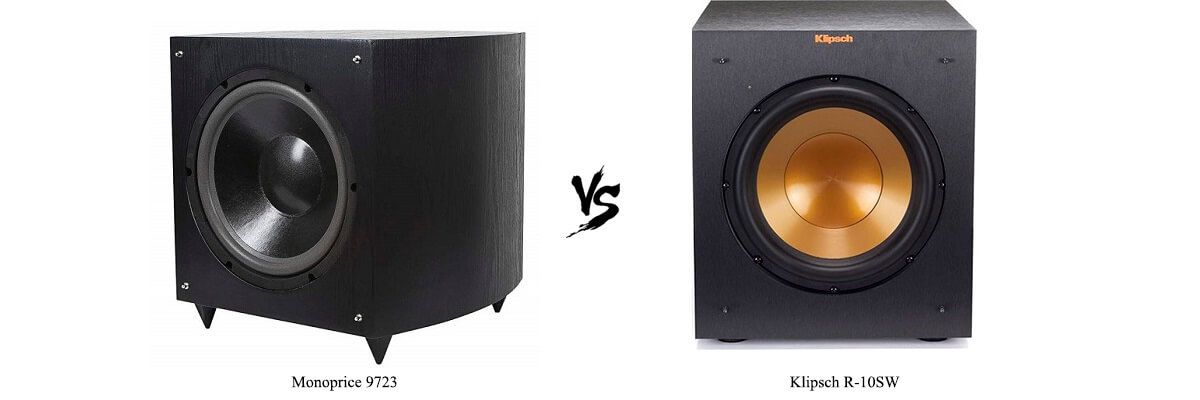 Monoprice 9723 vs Klipsch R-10SW