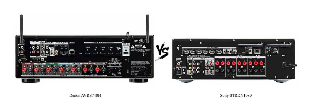 Sony STRDN1080 vs Denon AVRS740H