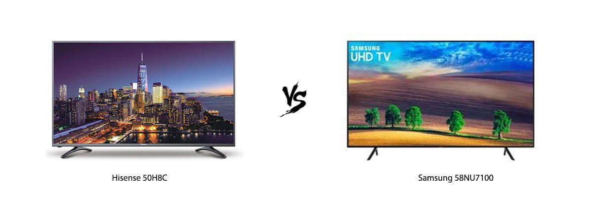 Samsung 58NU7100 vs Hisense 50H8C Review [2019] - HelpToChoose