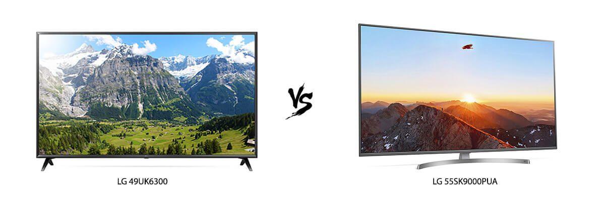 LG 49UK6300 vs LG 55SK9000PUA