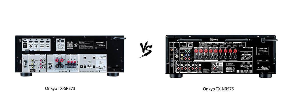 Onkyo TX-SR373 vs Onkyo TX-NR575 back
