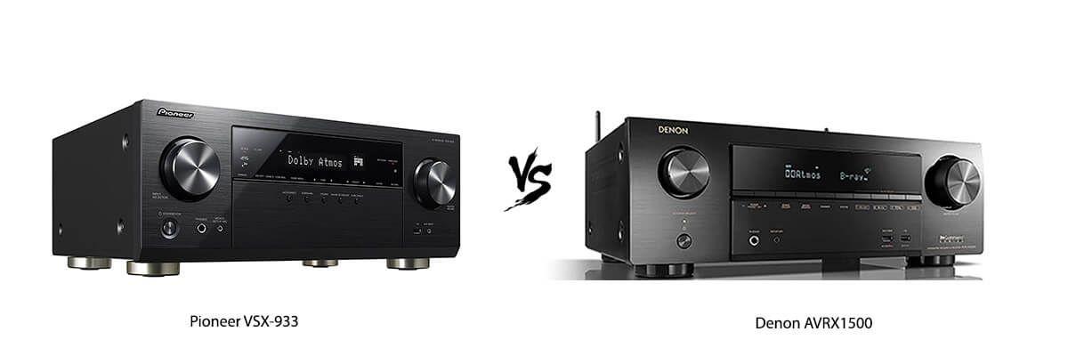 Pioneer VSX-933 vs Denon AVRX1500