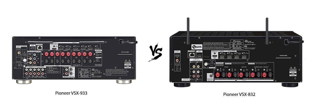 Pioneer VSX-933 vs Pioneer VSX-832 back